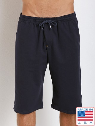 LASC French Terry Cotton/Spandex Workout Short Navy