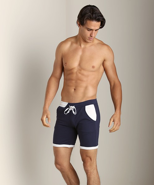 LASC Cotton/Poly Rower Short Navy