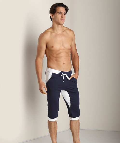 LASC Cotton/Poly 3/4 Rower Short Navy