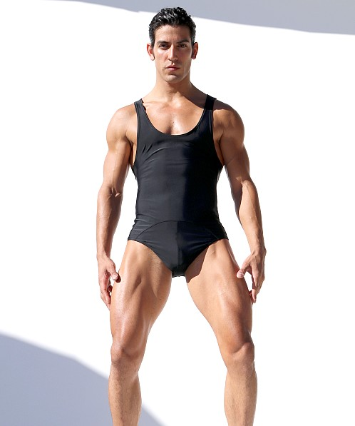 Rufskin Dive Rubber Panel Body Suit Black
