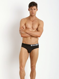 2xist Electric No Show Brief Black