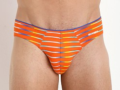 2xist Pro No Show Brief Orange Stripe
