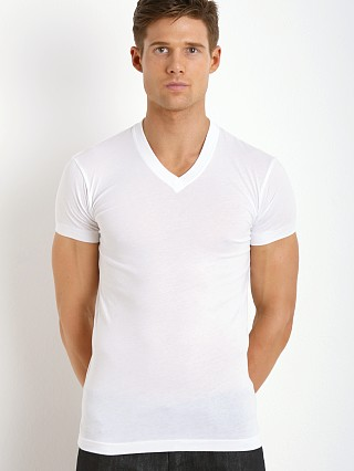 2xist Pima V-Neck T-Shirt White