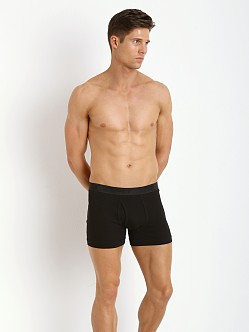 2xist Pima Boxer Brief Black