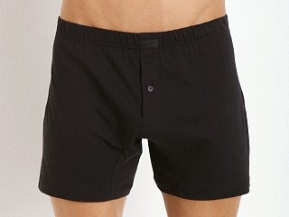 Model in black 2xist Pima Knit Boxer