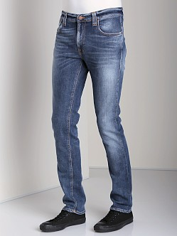 Nudie Jeans Thin Finn Org Light Navy Embo