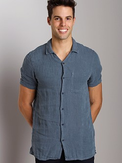 Nudie Jeans Jake Linen Chambray Short Sleeve Shirt
