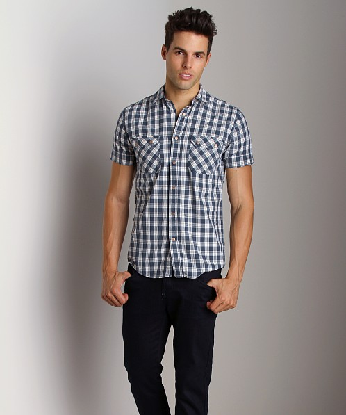 Nudie Jeans Marlo Micro Checks Short Sleeve Shirt