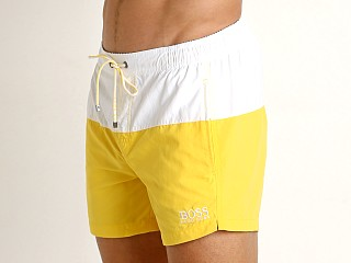 Hugo Boss Flounder Swim Shorts White/Yellow