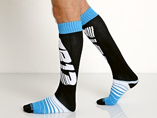 Cell Block 13 Velocity Knee Socks Blue