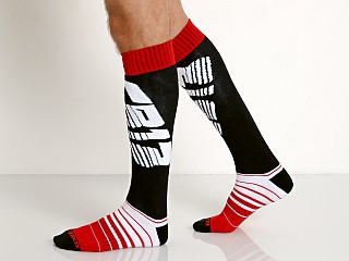 Cell Block 13 Velocity Knee Socks Red