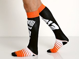 Cell Block 13 Velocity Knee Socks Orange