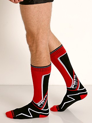 Cell Block 13 Kennel Club Calf Socks Red