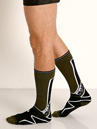 Cell Block 13 Kennel Club Calf Socks Army Green