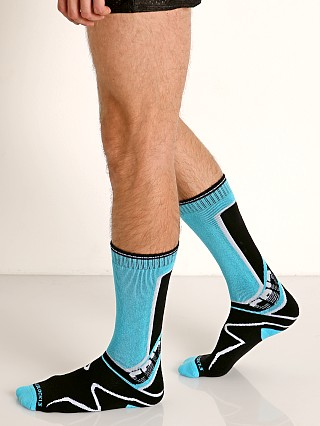 Cell Block 13 Kennel Club Calf Socks Turquoise