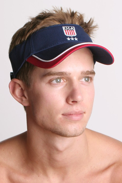 Speedo Team USA Olympics Sun Visor SP03220-RWB at International Jock af55b3f97e11