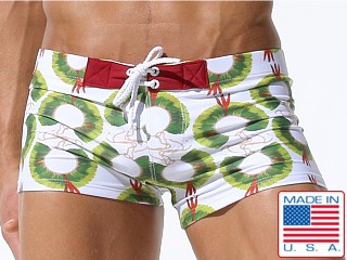 Rufskin Acoka Print Lace Up Swim Trunk