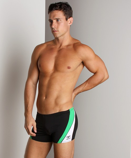Speedo Sonic Square Leg Black/Green