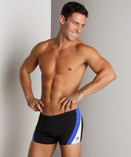 Speedo Sonic Square Leg Black/Blue