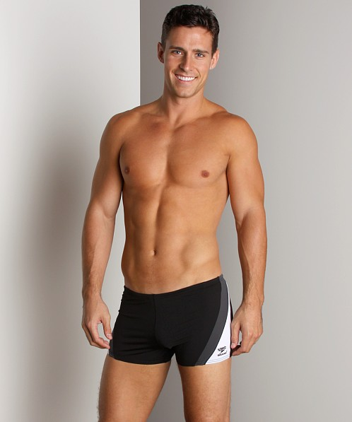Speedo Sonic Square Leg Charcoal/Black