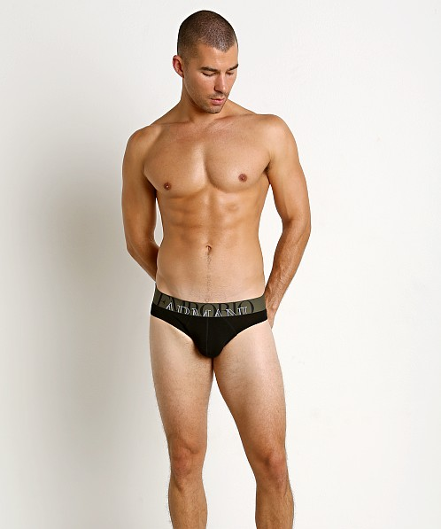Emporio Armani Athletic Big Eagle Brief Black