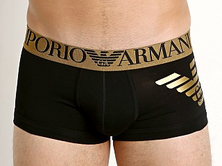 Emporio Armani Metallic Eagle Trunk Black