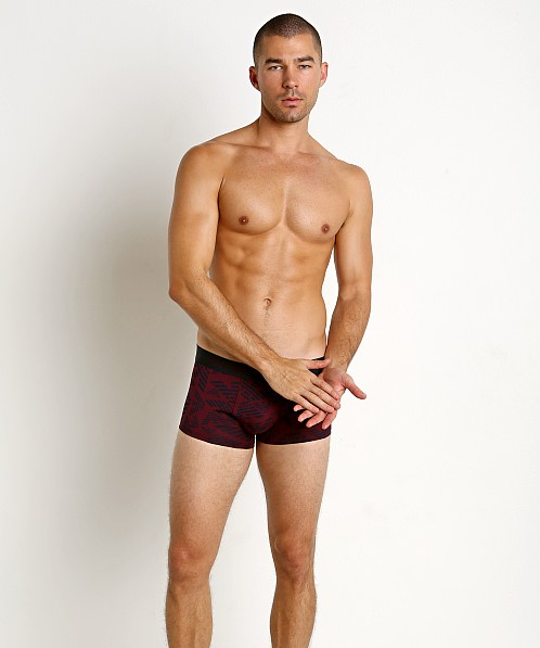 Emporio Armani All Over Eagle Trunk Aubergine
