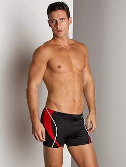 Speedo Optik Splice Square Leg Black/Red
