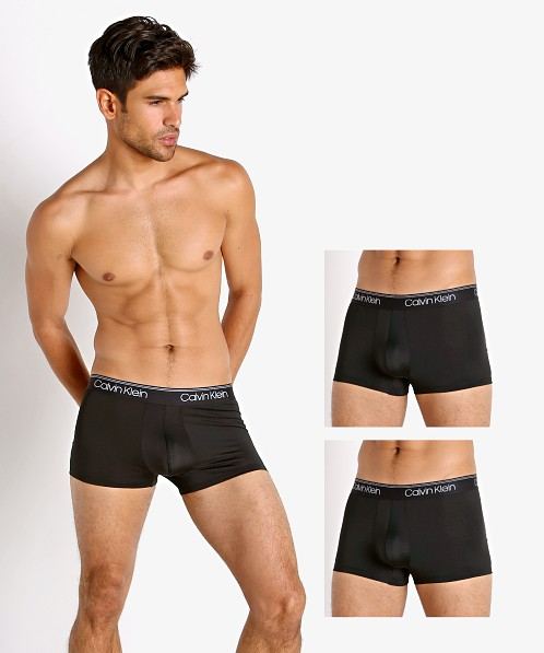 Calvin Klein Micro Stretch Wicking Low Rise Trunk 3-Pack Black