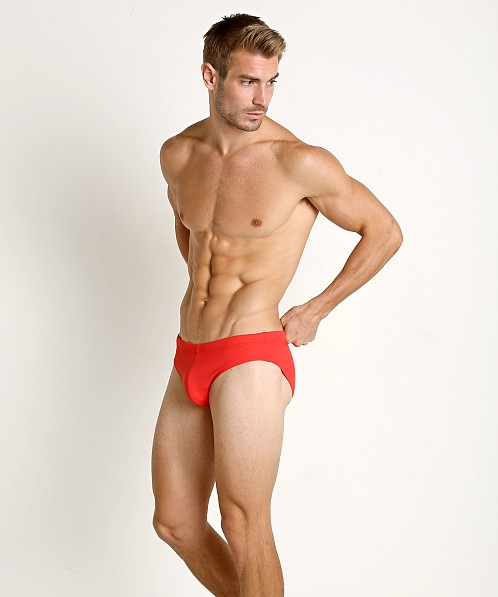 Diesel Mohawk Jack Lycra Swim Brief Red