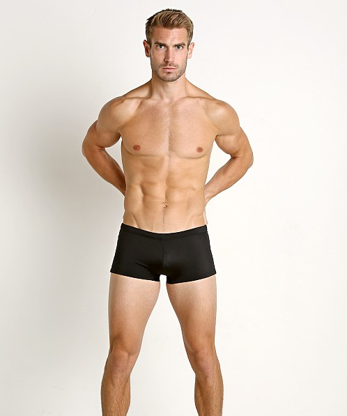 Diesel Logo Hero Lycra Swim Trunk Black