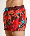 Diesel Sandy Swim Shorts Burgundy, view 3