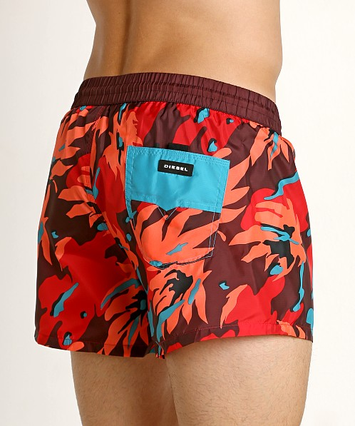 Diesel Sandy Swim Shorts Burgundy