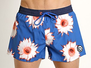Model in flower print Diesel Sandy Swim Shorts Flower