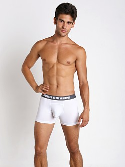 John Sievers SLEEK Natural Pouch Boxer Briefs White