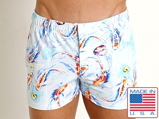 LASC Malibu Swim Shorts White Koi