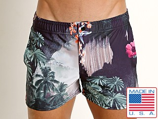 LASC Malibu Swim Shorts Black Jungle