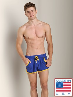 American Jock Gym French Terry Workout Short Royal/Yellow