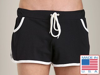 American Jock Gym French Terry Workout Short Black/White