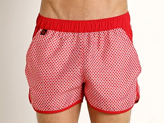 Jack Adams Rincon Swim/Gym Short Red Print
