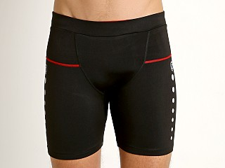 Timoteo Power Stretch Compression Short Black/Red