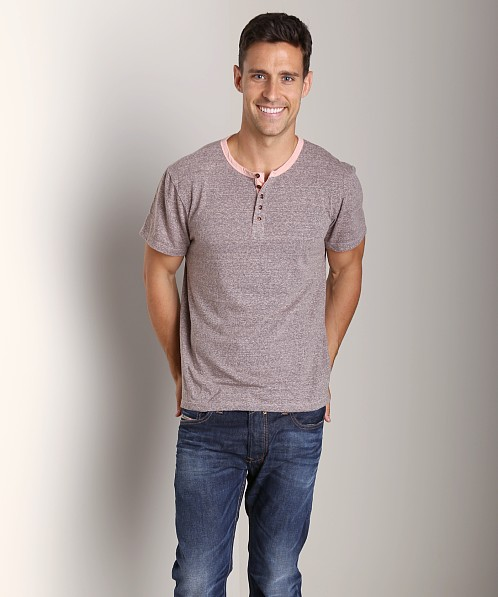 Joe's Jeans Colby Short Sleeve Henley Pink Sand