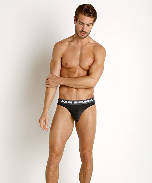 John Sievers SLEEK Natural Pouch Thong Black