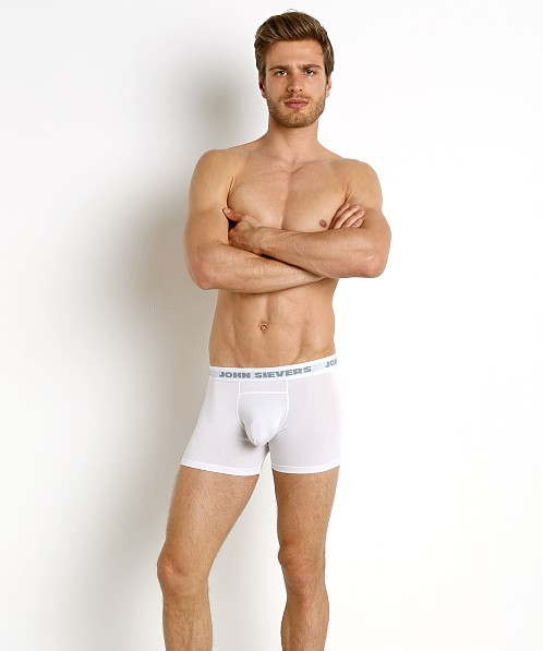John Sievers SOLID Natural Pouch Boxer Briefs White