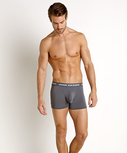 John Sievers SOLID Natural Pouch Boxer Briefs Steel Grey
