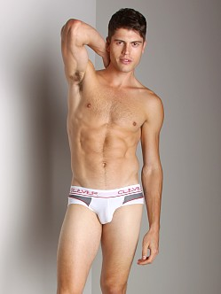 Clever Sporty Mesh Brief White