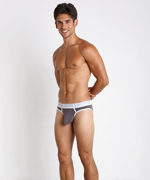 John Sievers Cotton Natural Pouch Brief Steel Grey