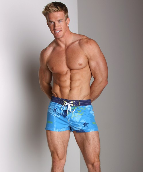 Diesel Coralrif Printed Swim Shorts Blue
