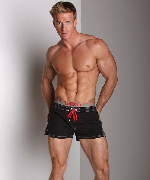 Diesel Barrely Logo Swim Shorts Black