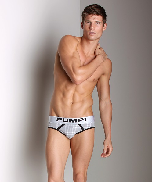 Pump! Tartan Brief Grey